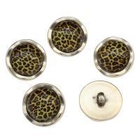 Zinklegierung Ösenknöpfe, mit Harz, Platinfarbe platiniert, frei von Nickel, Blei & Kadmium, 25x14x8mm, Bohrung:ca. 2.6mm, 100PCs/Tasche, verkauft von Tasche