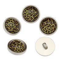Zinklegierung Ösenknöpfe, mit Harz, Platinfarbe platiniert, frei von Nickel, Blei & Kadmium, 23x13mm, Bohrung:ca. 3mm, 100PCs/Tasche, verkauft von Tasche