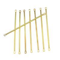 Eisen Schmuckverbinder, goldfarben plattiert, 1/1-Schleife, frei von Nickel, Blei & Kadmium, 50x1mm, Bohrung:ca. 1mm, ca. 2500PCs/kg, verkauft von kg