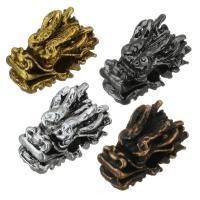 Zinklegierung Tier Perlen, Drachen, plattiert, keine, frei von Nickel, Blei & Kadmium, 8x13x8mm, Bohrung:ca. 3mm, 100PCs/Menge, verkauft von Menge