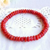 Roter Achat Armbänder, für Frau, rot, 75mm, verkauft von Strang