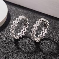 Zirkonia Micro Pave Sterling Silber Ringe, 925er Sterling Silber, verschiedene Größen vorhanden & Micro pave Zirkonia & für Frau, verkauft von PC
