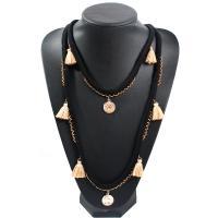 Baumwollfaden Franse Halskette, mit Seedbead, für Frau, keine, frei von Nickel, Blei & Kadmium, 57+10cm, verkauft von Strang