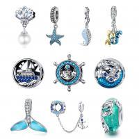925 Sterlingsilber European Perlen, 925er Sterling Silber, verschiedene Stile für Wahl & Micro pave Zirkonia & Emaille, 11x11mm, verkauft von Menge