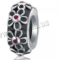 925 Sterlingsilber European Perlen, 925er Sterling Silber, DIY & Micro pave Zirkonia & für Frau, Silberfarbe, 11x11mm, verkauft von PC
