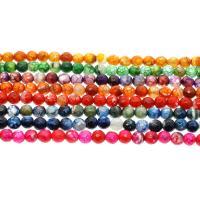Natürliche Drachen Venen Achat Perlen, Drachenvenen Achat, rund, verschiedene Größen vorhanden & facettierte, keine, Bohrung:ca. 1mm, verkauft per ca. 14.9 ZollInch Strang