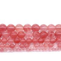 Kirsche Quarz Perle, rund, DIY & verschiedene Größen vorhanden, verkauft per ca. 14.9 ZollInch Strang