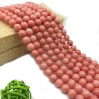 Rhodonit Perlen, rund, verschiedene Größen vorhanden, Bohrung:ca. 1mm, verkauft per ca. 14.9 ZollInch Strang