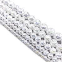 Kristall-Perlen, Kristall, rund, verschiedene Größen vorhanden, Kristall, Bohrung:ca. 1mm, verkauft per ca. 14.9 ZollInch Strang
