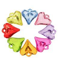 Acryl Anhänger, Herz, DIY, gemischte Farben, 27.50x26x8mm, Bohrung:ca. 2.5mm, ca. 220PCs/Tasche, verkauft von Tasche