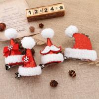 Eisen mit Stoff, Weihnachtsmütze, verschiedene Stile für Wahl, rot, 60*100mm, 5PCs/Tasche, verkauft von Tasche