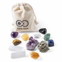 Edelstein mit Leinen, gemischt, 30-50mm,20mm, 12PCs/Tasche, verkauft von Tasche