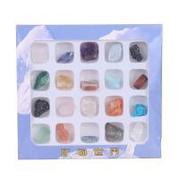 Edelstein mit Zettelkasten, gemischt, 10mm,130*120*10mm, 20PCs/Box, verkauft von Box