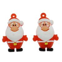 Harz Anhänger, Weihnachtsmann, DIY, rot, 39x25x18mm, Bohrung:ca. 2.3mm, 100PCs/Tasche, verkauft von Tasche