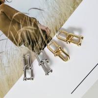 Messing Leverback Ohrring, goldfarben plattiert, abnehmbare & für Frau, keine, 37*15mm, verkauft von Paar