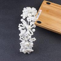 ABS-Kunststoff-Perlen Haarband, mit Kristall, handgemacht, Koreanischen Stil & für Braut, keine, 220x45mm, verkauft von PC