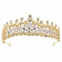 Zinklegierung Haarband, mit Kristall, Krone, plattiert, für Braut & für Frau & mit Strass, keine, frei von Nickel, Blei & Kadmium, 155x55mm, verkauft von PC