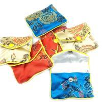 Mode Geschenkbeutel, Seide, Rechteck, Kunstdruck, Koreanischen Stil & verschiedene Größen vorhanden, gemischte Farben, 12PCs/Menge, verkauft von Menge
