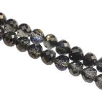 Mode Glasperlen, Glas, DIY & facettierte, schwarz, 9x10x10mm, Bohrung:ca. 1mm, 60PCs/Strang, verkauft von Strang