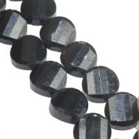 Mode Glasperlen, Glas, DIY & facettierte, schwarz, 12x12x6mm, Bohrung:ca. 1mm, 60PCs/Strang, verkauft von Strang
