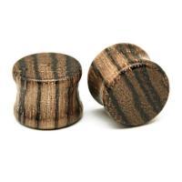 Holz Piercing Durchstich, unisex & verschiedene Größen vorhanden, braun, verkauft von PC