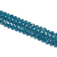 Kristall-Perlen, Kristall, DIY & facettierte, 6x8mm, Bohrung:ca. 1mm, 60PCs/Strang, verkauft von Strang