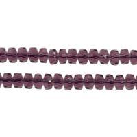 Kristall-Perlen, Kristall, DIY & facettierte, Violett Opal, 6x6x4mm, Bohrung:ca. 1mm, ca. 93PCs/Strang, verkauft per ca. 14.9 ZollInch Strang