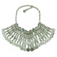 Zinklegierung Halskette, QuasteTroddel, plattiert, für Frau, keine, frei von Nickel, Blei & Kadmium, 80mm, verkauft per ca. 19.30 ZollInch Strang