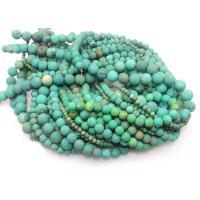 Sinkiang Türkis Perle, rund, poliert, DIY & verschiedene Größen vorhanden & satiniert, grün, verkauft per ca. 15 ZollInch Strang