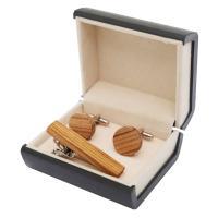 Holz Manschettenknöpfe, mit Messing, verschiedenen Materialien für die Wahl, 16x16mm, verkauft von Box