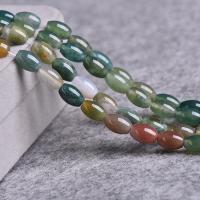 Natürliche Indian Achat Perlen, Indischer Achat, poliert, DIY, gemischte Farben, 6x9mm, ca. 42PCs/Strang, verkauft per ca. 15 ZollInch Strang