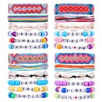 Acryl Armbänder, mit Baumwollfaden, Unendliche, für Frau, keine, 15mm, verkauft von setzen