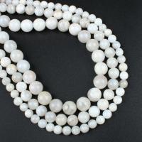 Natürliche verrückte Achat Perlen, Verrückter Achat, rund, verschiedene Größen vorhanden, weiß, Bohrung:ca. 1mm, verkauft per ca. 14.9 ZollInch Strang