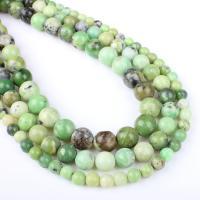 Australien Jade Perle, rund, verschiedene Größen vorhanden, grün, Bohrung:ca. 1mm, verkauft per ca. 14.9 ZollInch Strang