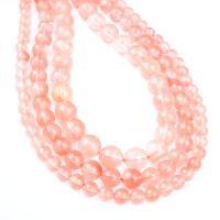 Kirsche Quarz Perle, rund, verschiedene Größen vorhanden, hellrot, Bohrung:ca. 1mm, verkauft per ca. 14.9 ZollInch Strang
