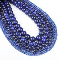 Lapislazuli Perle, rund, verschiedene Größen vorhanden, blau, Bohrung:ca. 1mm, verkauft per ca. 14.9 ZollInch Strang