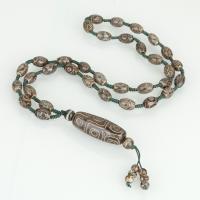 Tibetan Achat Halskette, unisex, 15.5x40.5mm,8.5x12.5mm,96.5mm, verkauft per ca. 25 ZollInch Strang