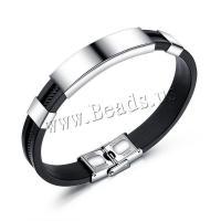 Titan Edelstahl Armband, Silikon, mit Titanstahl, rund, für den Menschen, 41x11mm, verkauft von Strang