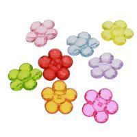 Acryl Anhänger, Blume, DIY & transparent, gemischte Farben, 36x35x14mm, Bohrung:ca. 3mm, ca. 160PCs/Tasche, verkauft von Tasche