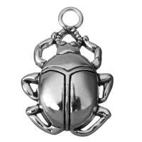 Zinklegierung Tier Anhänger, Insekt, Schwärzen, Silberfarbe, frei von Nickel, Blei & Kadmium, 27x40x8mm, Bohrung:ca. 5mm, 50PCs/Menge, verkauft von Menge