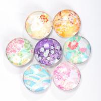 Kühlschrankmagnete, Glas, rund, Kunstdruck, verschiedene Größen vorhanden & verschiedene Muster für Wahl, keine, 100PCs/Tasche, verkauft von Tasche