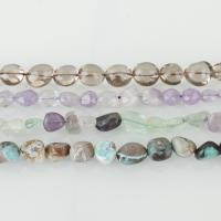 Mischedelstein Perlen, Edelstein, verschiedenen Materialien für die Wahl, Bohrung:ca. 1-2mm, verkauft per ca. 15-16 ZollInch Strang