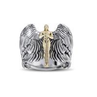 Zinklegierung Fingerring , Engel, plattiert, verschiedene Größen vorhanden & für den Menschen, keine, 10PCs/Menge, verkauft von Menge