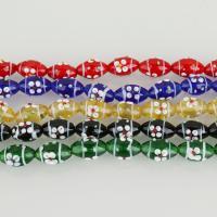 Holprige Lampwork Perlen, keine, 18-20x12-14x12-14mm, Bohrung:ca. 2mm, ca. 12PCs/Strang, verkauft per ca. 9.5 ZollInch Strang
