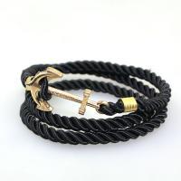 Wrap Armband , Terylen Schnur, mit Zinklegierung, unisex, keine, verkauft per 23.62 ZollInch Strang