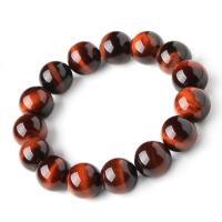 Natürliche Tiger Eye Armband, Tigerauge, mit elastischer Faden, plattiert, unisex & verschiedene Größen vorhanden, verkauft von Strang