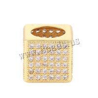 Messing Großes Loch Perlen, plattiert, DIY & Micro pave Zirkonia & hohl, keine, 9.20x9.70mm, Bohrung:ca. 6.8mm, 5PCs/Menge, verkauft von Menge