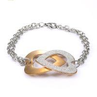 Titan Edelstahl Armband, Titanstahl, plattiert, für Frau & hohl, metallische Farbe plattiert, 33mm, verkauft per ca. 7.9 ZollInch Strang