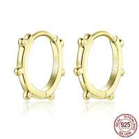 925 Sterling Silber Ohrringe, 925er Sterling Silber, Kreisring, plattiert, für Frau, keine, 12mm, verkauft von Paar