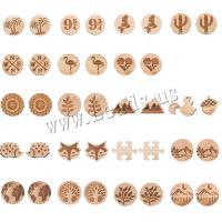 Holz Ohrring, verschiedene Stile für Wahl & für Frau, braun, verkauft von Paar